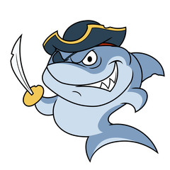 Shark pirate with sabre 2