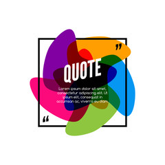 Vector colorful quote frame, colorful quote for modern design