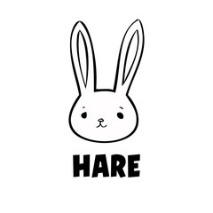 Black hare icon
