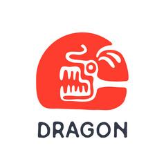 Dragon logo, vector illustration.