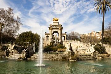 Cascada waterfall in Ciutadella Park, Barcelona.
