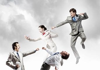 Battle of business team