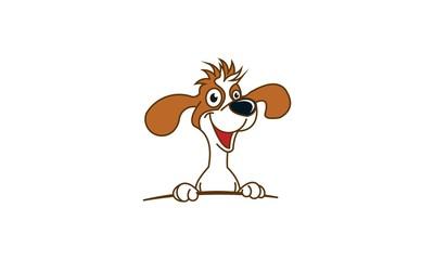 Smile Dog Logo Vector