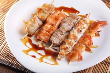 Asian barbecue sauce set
