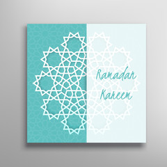 Islamic ramadan greeting card.