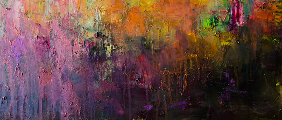 Abstract oil painting background. Hand drawn oil painting on canvas .Color texture. Fragment of artwork.