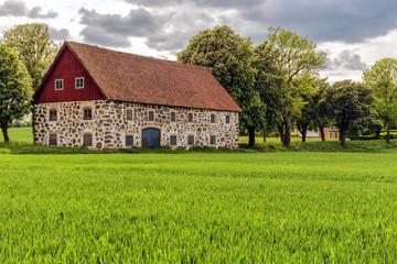 Stone barn in Sweden