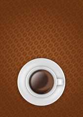 Coffee cup poster flyer template