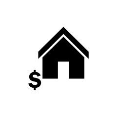 House and dollar sign icon. Vector illustration