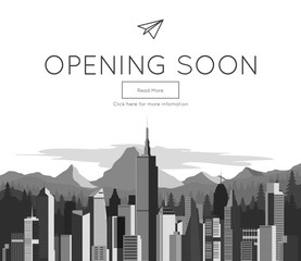 Opening Soon for website template