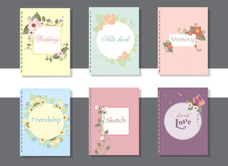Collection of hand drawn cards,book and invitations