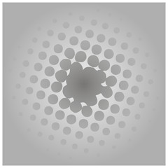 Black and white optical illusion background, vector.
