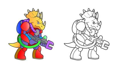 Battle dinosaur