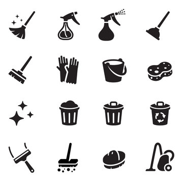 Keep Clean Vector Icon Set