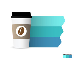 Takeaway coffee cup for Infographic