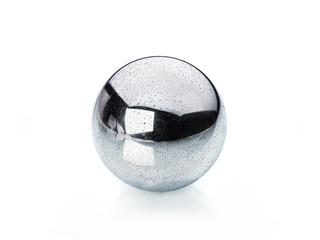 real polished metal sphere isolated