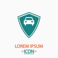 Car guard computer symbol