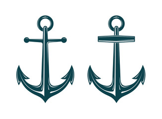 Vector image of anchor