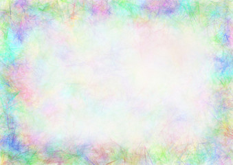 Pastel drawn textured background.Crumpled paper. Template for letter or greeting card. A4 size format. Series of Watercolor, Oil, Pastel, Chalk, Inc Backgrounds and Cards, Blanks and Forms.