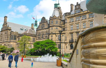 Sheffield city centre, UK