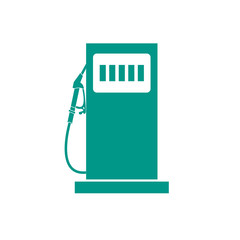 Stylized icon of the gas station
