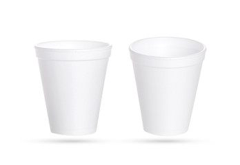 Plastic cup isolated on white background with clipping path