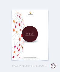 Brochure design, flyer, leaflet, with abstract molecule structur