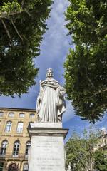famous fountain du Roi Rene in Aix en Provence