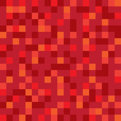 Abstract vector block texture red. Pixel background