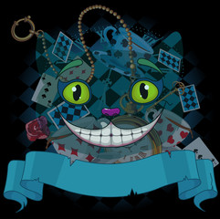 Canvas Prints Fairytale World Cheshire Cat