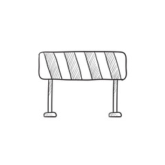 Road barrier sketch icon.