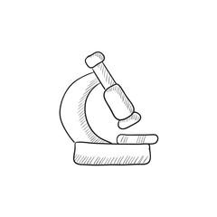 Microscope sketch icon.