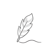 Feather sketch icon.
