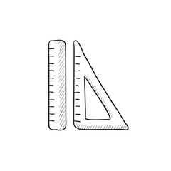 Rulers sketch icon.
