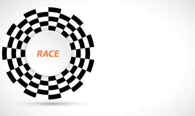 Racing square background, vector illustration abstraction in race car track