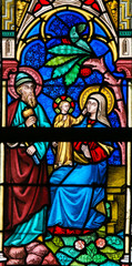Wall Mural - Stained Glass - Holy Family