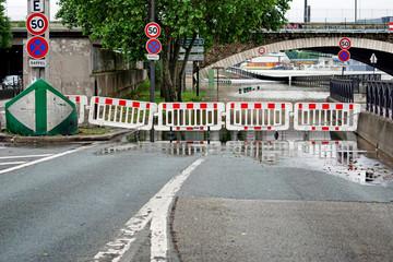 Route inondées