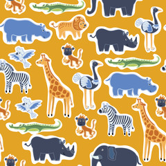 Pattern african animals