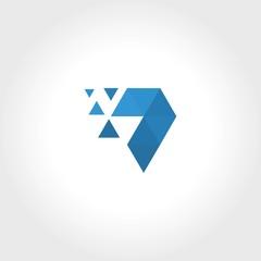 triangle dot technology 3d logo