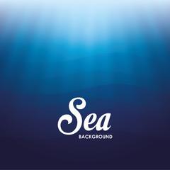 Sea design. blue background. Colorful illustration , vector