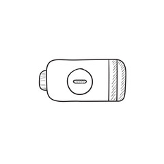 Low power battery sketch icon.