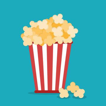 Cinema design. Movie concept. Flat illustration