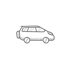Minivan sketch icon.