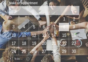 Calendar Agenda Appiontment Deadline Meeting Concept
