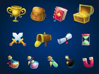 Set items for game user interface Atlantis ruins