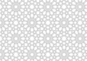 İslami motif (Beyaz zemin üzerinde)