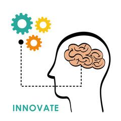 Innovate disign. Idea icon. Flat illustration , vector