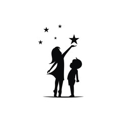Children and stars