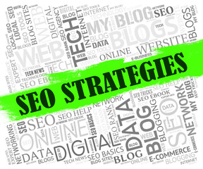 Seo Strategies Shows Search Engine And Internet