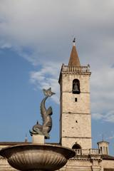 Ascoli Piceno Fontana piazza dell'Arringo
